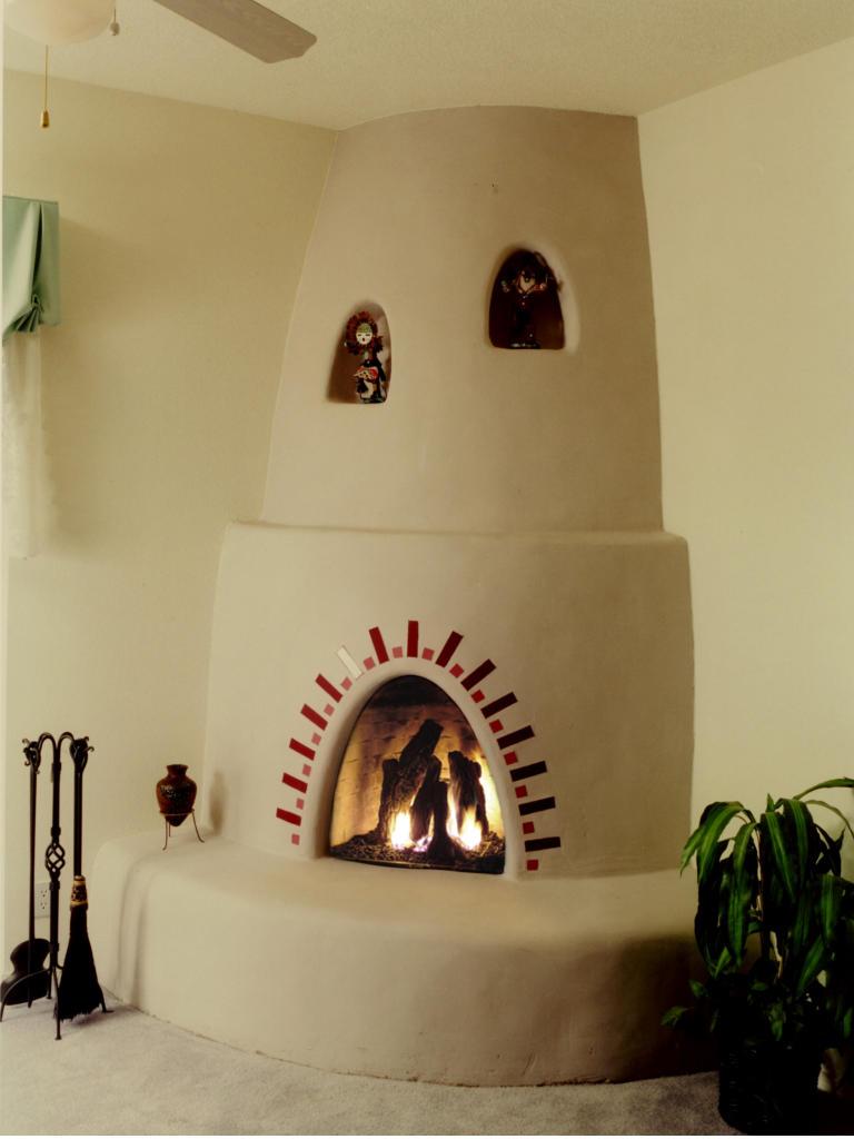 Santa Fe Kiva Fireplace Kit