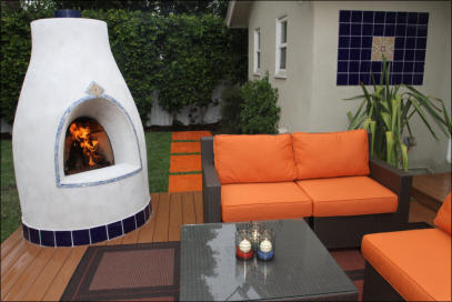 El Pueblo Outdoor Kiva Fireplace Kit