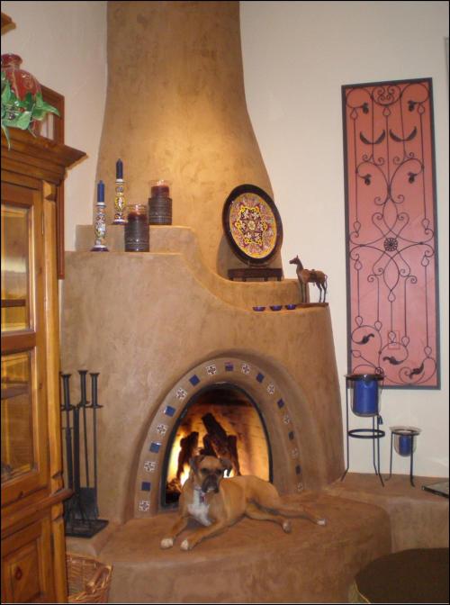Adobelite kiva fireplace gallery for Kiva fireplaces