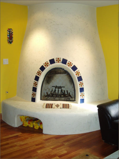 Adobelite Kiva Fireplace Gallery